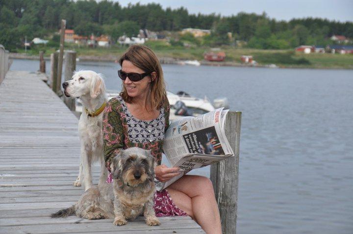 Elisabeth nyter siste rest av ferien hos Anne Karang og Jørgen Vogt. Foto: Anne Karang